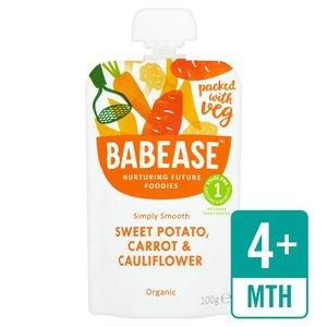Babease Organic Sweet Potato, Carrot & Cauliflower 100g