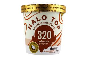 Halo Top Caramel Macchiato Ice Cream Cup 16oz