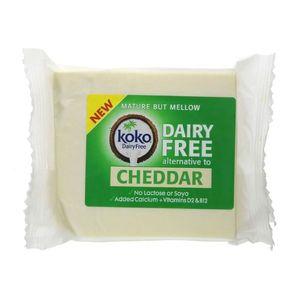 Koko Dairy Free Cheddar Cheese Alternative With Vitamins D2 & B12 Lactose Free Soya Free 200g