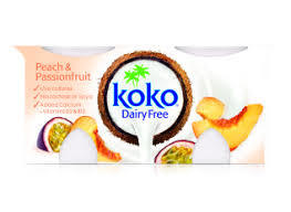 Koko Peach & Passion Fruit Yoghurt Dairy Free 250g