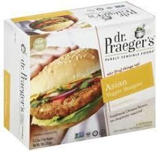 Dr Praeger's Asian Veggie Burger Gluten Free 10oz