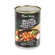 Free & Easy Organic Veg Curry & Chickpea 400g