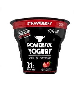 Powerful Strawberry Greek Yoghurt 8oz