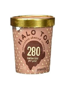 Halo Top Protein Chocolate Almond Ice Cream Cup 16oz