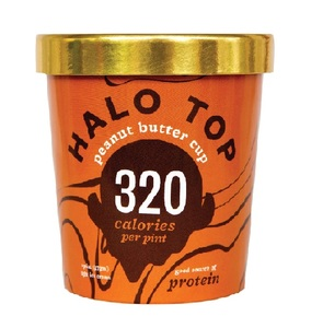 Halo Top Protein Peanut Butter Ice Cream Cup 16oz