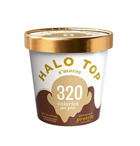 Halo Top Protein S'mores Ice Cream Cup 16oz