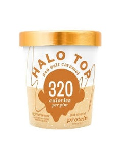 Halo Top Protein Sea Salt Caramel Ice Cream Cup 16oz