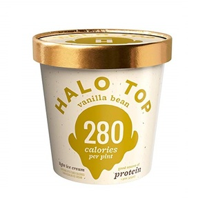 Halo Top Protein Vanilla Bean Ice Cream Cup 160Z