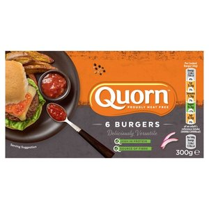 Quorn Meat Free 6 Burgers 300g