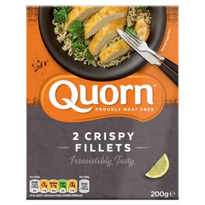 Quorn Meat Free 2 Crispy Fillets 200g
