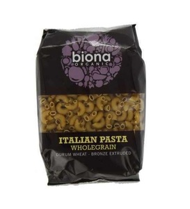 Biona Organic Italian Macaroni Wholegrain Pasta 500g