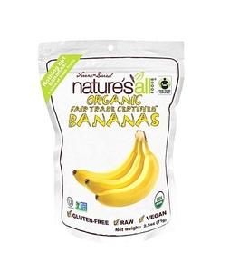 Nature's All Organic Freeze Dried Bananas 2.5oz