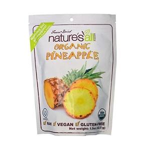 Nature's All Organic Freeze Dried Pineapple 1.5oz