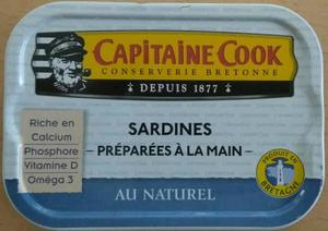 Capitaine Cook Sardines Natural 130g