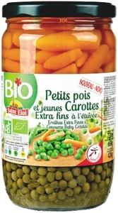 St Eloi Bio Peas Carrot 420g
