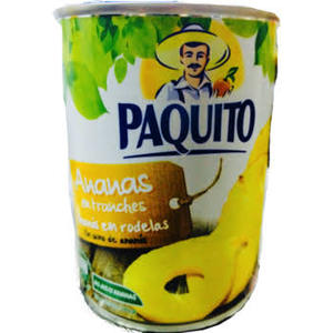 Paquito Bio Pineapple Chunck In Syrup 310g