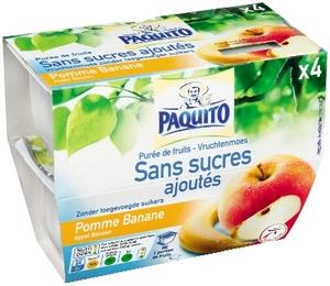 Paquito Apple Banana Compote No Sugar 4x100g