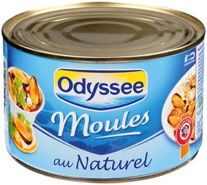 Odyssee Moules Au Naturel 250g