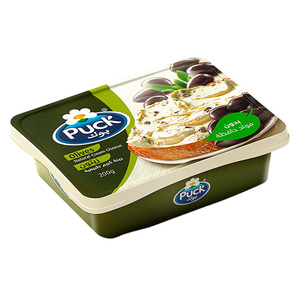 Puck Cream Cheese Black Olives 200g