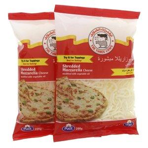 The Three Cows Shredded Mozzarella Cheese 2x200g