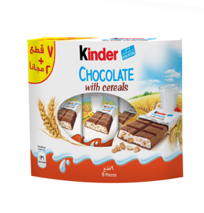 Kinder Chocolate With Cereals 7+2 Freex211.5g