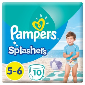 Pampers Splashers Swimming Pants Size 5-6 >14 Kg Carry Pack 10 pcs