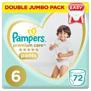 Pampers Premium Care Pants Diapers Size 6 Extra Large >16Kg Double Jumbo Pack 72 pcs