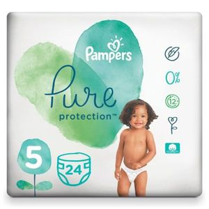 Pampers Pure Protection Baby Diapers Size 5 (Above 11Kg) 24 pcs