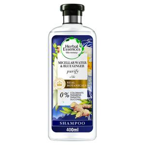 Herbal Essences Bio Renew Purify Micellar Water & Blue Ginger Shampoo 400ml