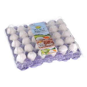 Bustan White Egg Tray Med 30s