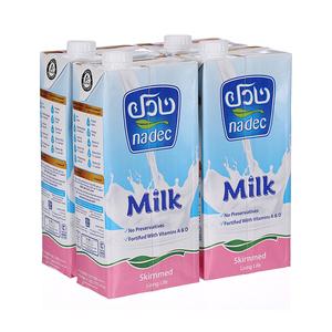 Nadec Ultra High Temperature Milk Skimmed 4x1L