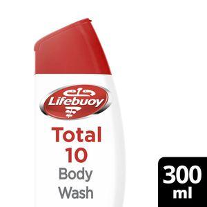 Lifebuoy Anti Bacterial Body Wash Total 10 2x300ml