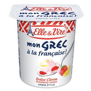 Elle & Vire Greek Yoghurt Strawberry/Lemon 125g
