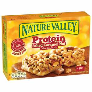 Nature Valley Protein Bar Salted Caramel And Nuts Box 4x40g