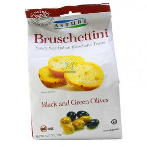Asturi Bruschettini Black & Green Olive 120g