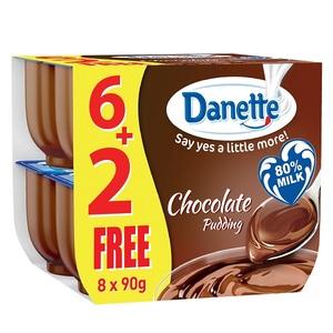 Danette Chocolate Flavour Dessert 8x90g