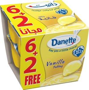 Danette Dessert Vanilla Flavour 8x90g