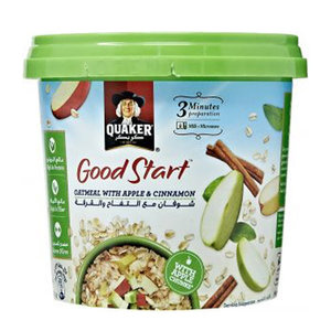 Quaker Good Start Oats Pot Apple Cinnamon 43g