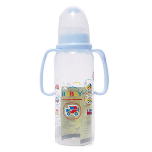 Rubby Printed Feeding Bottle With Handle 240ml