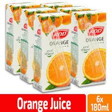 Kdd Orange Juice 6x180ml