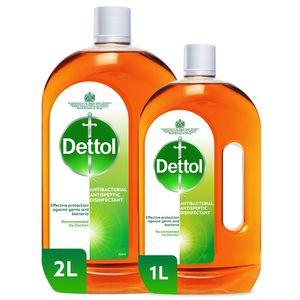 Dettol Antiseptic Antibacterial Disinfectant Liquid 2L+1L