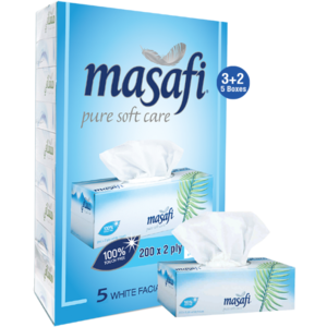 Masafi Facial Tissue White 5x200s