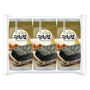 Kwangchoen Dosirak Seasoned Jarea Seaweed 3x5g