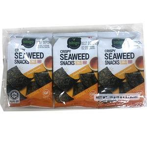 Bibigo Snack Gim, Seasoned Seaweed Sesame 3x5g