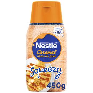 Nestle Sweetened Condensed Milk Squeezy Dulce De Leche Flavor (Caramel) 450g