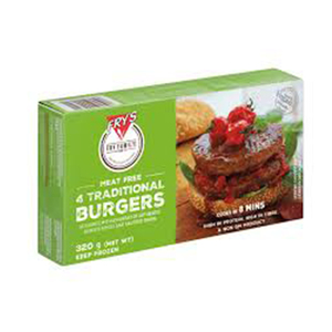 Frys Family Meat Free Traditional Burger 320g