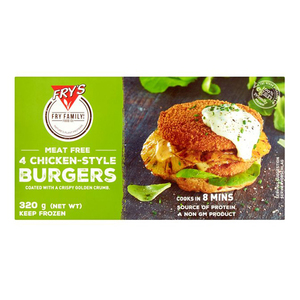 Frys Family Meat Free Chicken Style Burger 320g