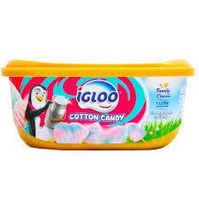 Igloo Ice Cream Cotton Candy Tub 1L