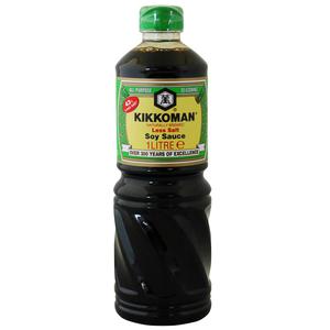Kikkoman Soya Sauce Low Sodium 1L