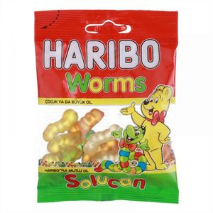 Haribo Jelly Candy Gold Worms 30g